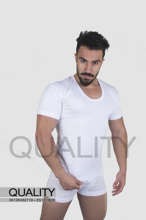نیم آستین سفید